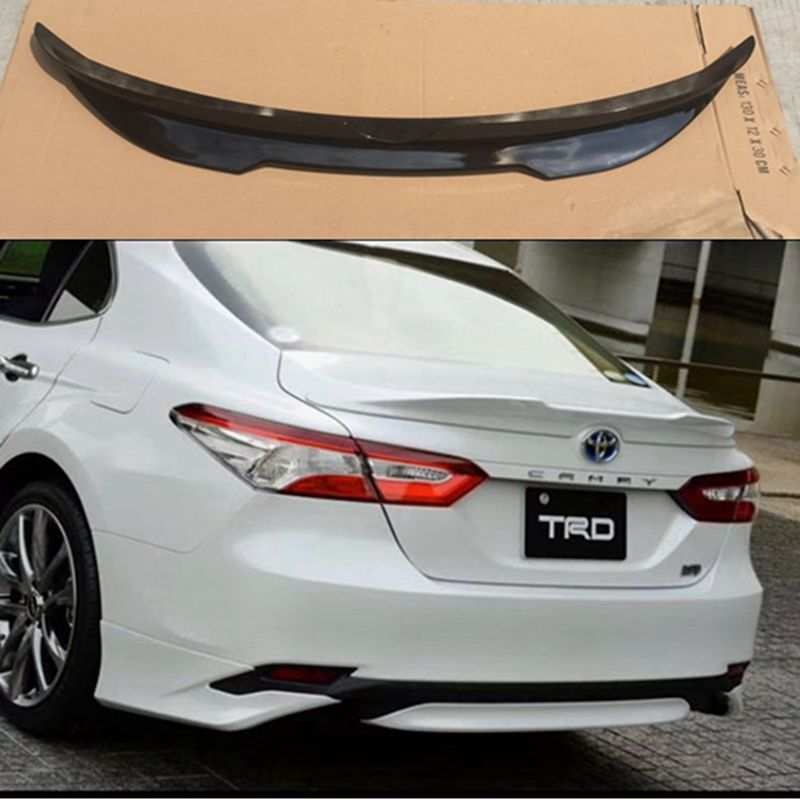 Car-styling ABS Tail Rear Trunk Spoiler Wing Decoration Cove Auto Protection Accessories For Toyota Camry 2017 2018