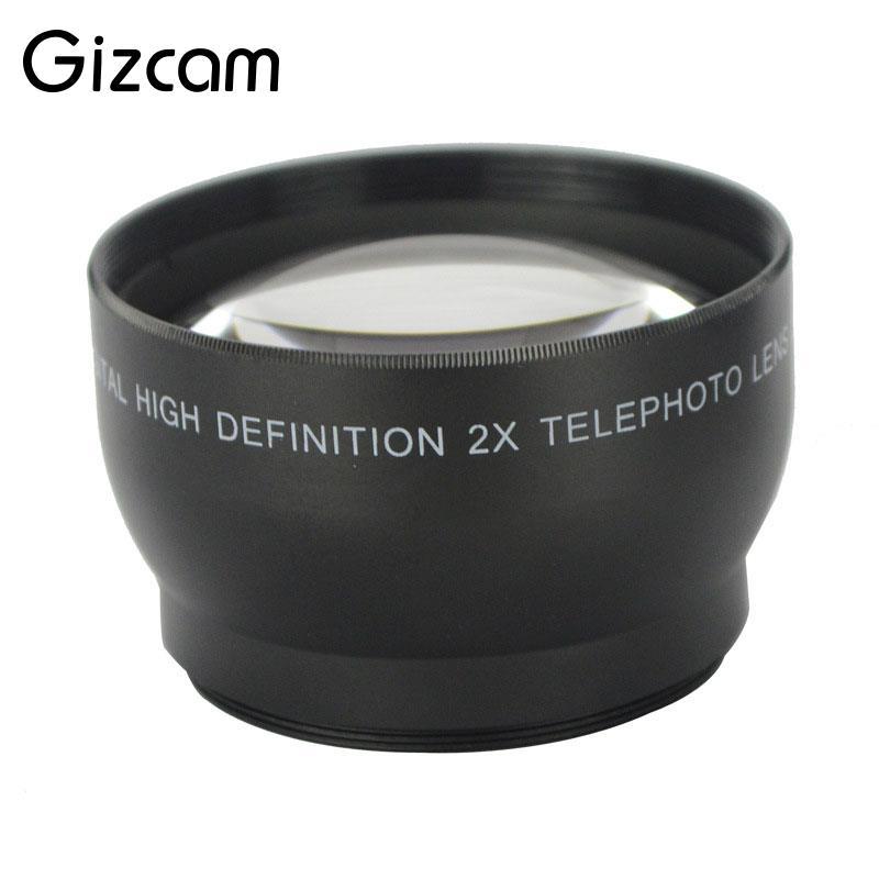 Gizcam Professional 52mm 2x Magnification Telephoto Lens for Nikon D5100 D3200 D70 D40 Camera Digital Cameras