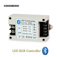 Kingsbond New Bluetooth RGB 3 Channel Led Controller Ios Android Smartphone BT Wireless DC 12V 24V