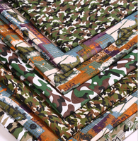 2015 New Printed Polyester Camouflage Fabrics 100CM 150CM Retail 1pc Manual Cloth Chevron Printed Fabric