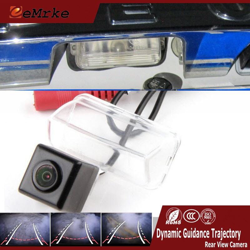 EEMRKE pour Peugeot 206 207 307 berline 307 SM 407 C4 DS4 CCD HD caméra de recul de voiture avec pistes renversant la trajectoire de guidage