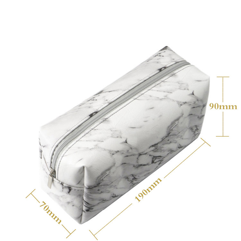 Marble Pencil Case Creative Large Capacity Pencil Bag For Girls Gift Makeup Bag Pen Box Korean Stationery Office School Supplies 2017 korean large capacity cute pencil case golden simple stationery pens holder bag for girl boy school office supplies gift