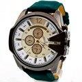 Reloj 2017 Nuevo Diseño de la Venta Caliente de Lujo de Los Hombres Reloj Analógico deporte Caja de Acero de Cuarzo Dial Reloj de Cuero Envío Gratis 17Jan9