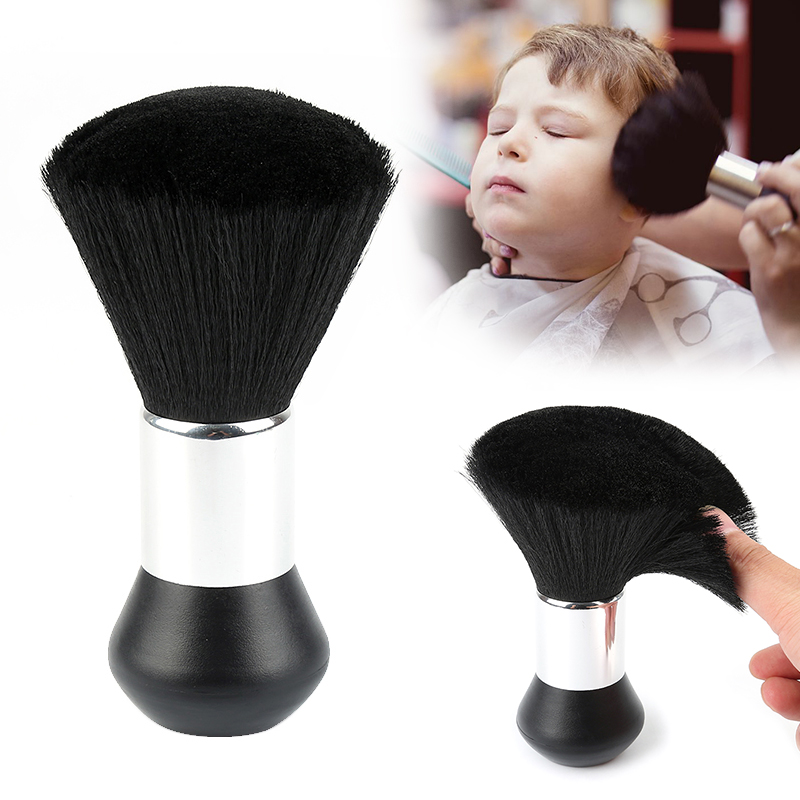 Hot Selling Soft Neck Brush Face Duster Dispencer Brushes Hair Brush Hairdresser Salon Plastic Handle Cosmetic Tools