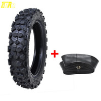 TDPRO 80/100 10 3.00 10 Tyre Tires + Tube Rear Back Knobby ATV Wheels For Karting Supermoto PIT PRO Trail Dirt Bike