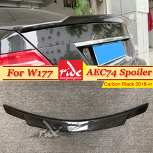 W177 C74 Style Carbon Fiber Rear Trunk Spoiler Fits For Mercedes Benz A Class A180 A200 A250 A300 Sedan Rear Spoiler Wing 18-in new laptop bottom case base cover for asus s300c s300ca 13n0 p5a0711 13nb00z1ap0311
