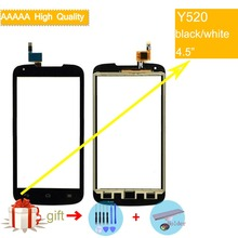 For Huawei Ascend Y520 Touch Screen Touch Panel Sensor Digitizer Front Outer Glass Lens Y520 Touchscreen No LCD black white mooncase простой стиль кожаный бумажник флип карты отойти чехол для huawei ascend y520 белый