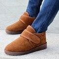 2016 Moda Casual Hombres Botas de Otoño Martin de Los Hombres Zapatos de Cuero de Gamuza Invierno de la Nieve de Herramientas Grande Tamaño 39-44 El Envío Libre