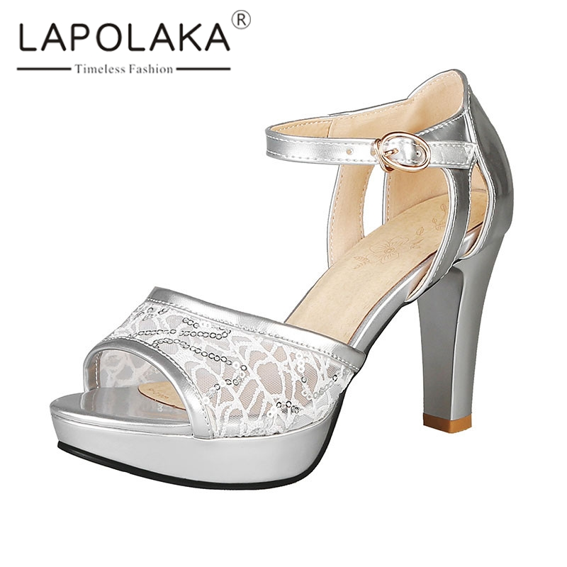 Lapolaka Brand New Plus Size 33-46 Ladies High Heels Women Shoes Woman Casual Party Ol Luxury Summer Sandals Female ShoesLapolaka Brand New Plus Size 33-46 Ladies High Heels Women Shoes Woman Casual Party Ol Luxury Summer Sandals Female Shoes