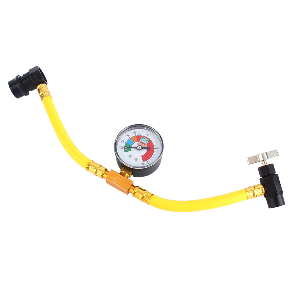 Car Air Pressure Gauge R134a Refrigerant Recharge Hose 1/2 Can Tap Car Air Conditioning Pressure Gauge refrigerant charging