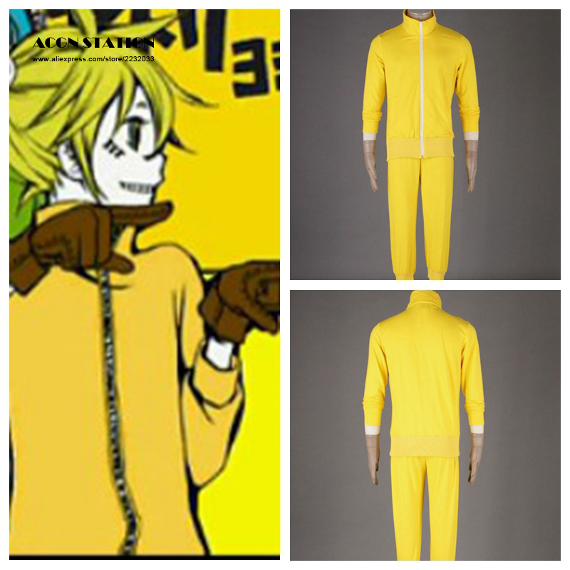 2017 Free Shipping Hatsune Miku Kagamine Len Russian Doll version Kids Cosplay Costume Customize for plus size adults and kids
