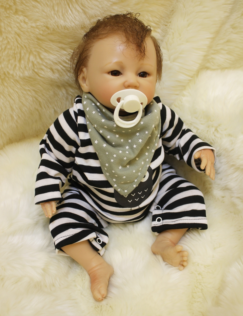 Soft Body Silicone Reborn Boy Baby Doll Toy Real Touch 50cm Cute Newborn Babies Dolls Birthday Gift Present Girl Play House Toy new fashion design reborn toddler doll rooted hair soft silicone vinyl real gentle touch 28inches fashion gift for birthday