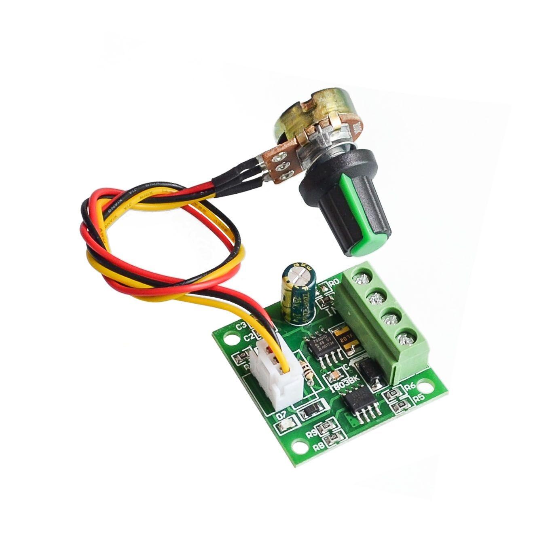 1.8V 3/5/6/12 V 2A PWM DC Motor Speed Control /w Potentiometer Switch