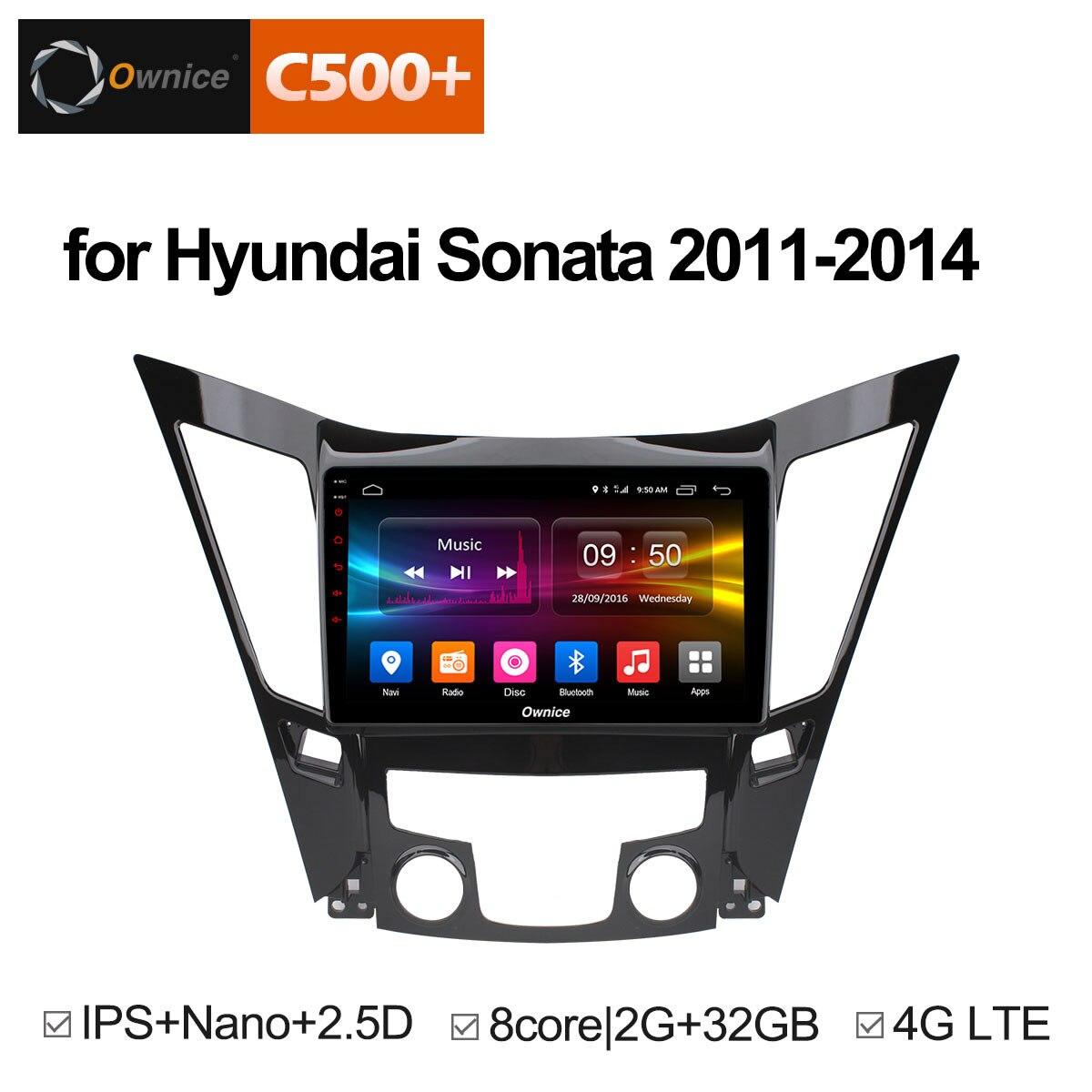 Ownice C500 + G10 Octa Core 2g + 32g Auto lettore DVD radio stereo headunit per Hyundai Sonata 2011-2014 audio android 8.1 gps navi