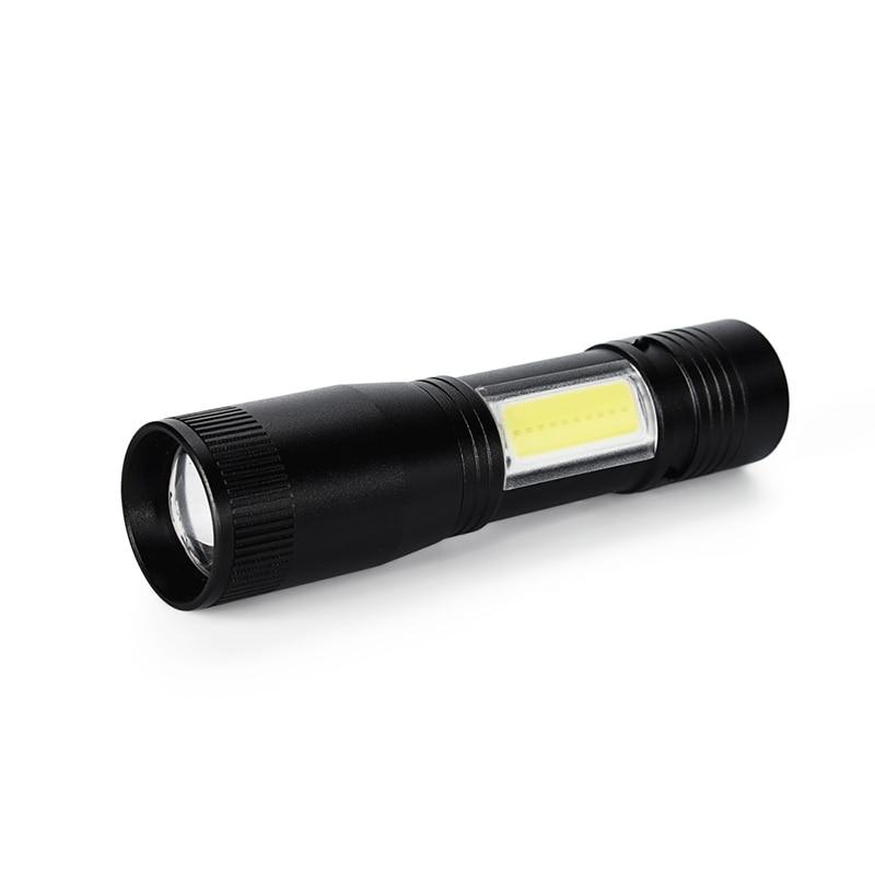 Funn-skywolfeye Zoomable Mini Portable Q5+cob Led Flashlight 4 Mode 800lm Powerful Torch Lamp Hunting Camping Penlight Light U
