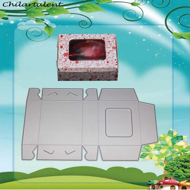 Saco de caixa de presente de Metal de Corte Morre Stencils selos para Scrapbooking Embossing DIY Cartões Decorativos fazer fustelle metalliche novo