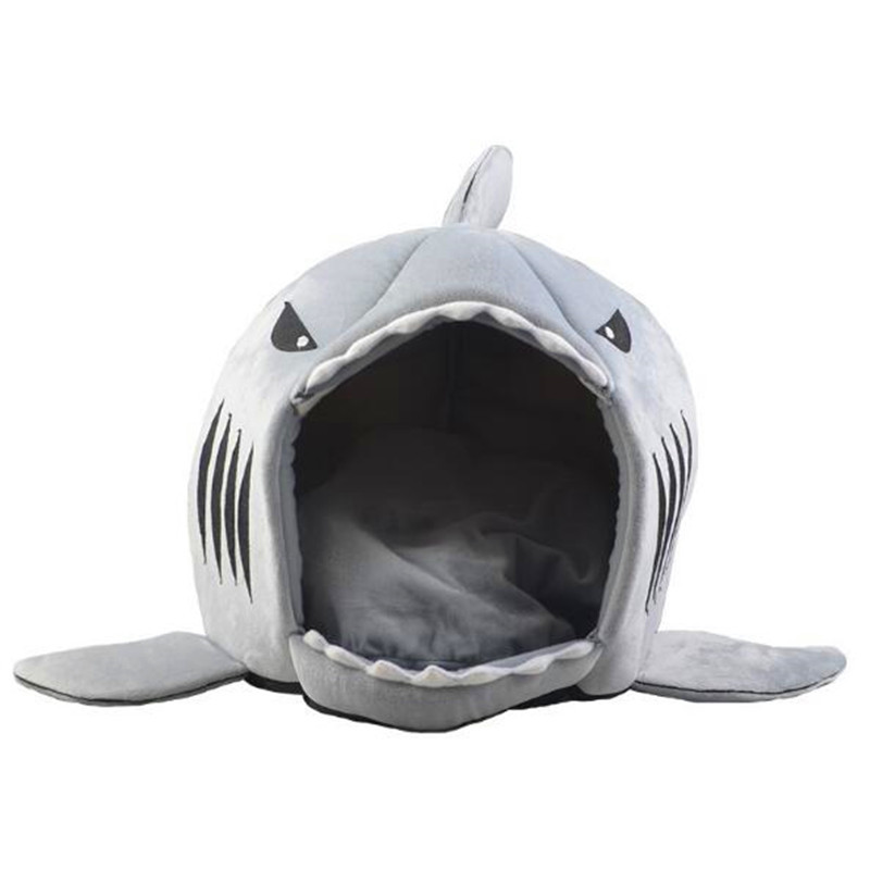 Dog Cat Bed Shark Mouse Shape Washable Dog house Pet Sleeping Bed Dog Kennel Pet Nest Removable Cushion Gray Blue Pink Colors