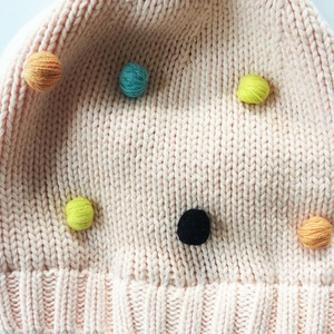 Image 4 - Children Winter Caps Earflap Pompom Hat Scarf Set For Girls And Boys Baby Hat With Colorful Pompom