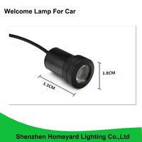 2pc Car Accessories Of Led Door Logo Ghost Shadow Welcome Light For All Cars 12V Laser