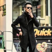 Men Jacket Woolen Coat Long style Fashion Trench Coat Homme Brand Casual Fit Overcoat Jacket Outerwear men European style warm