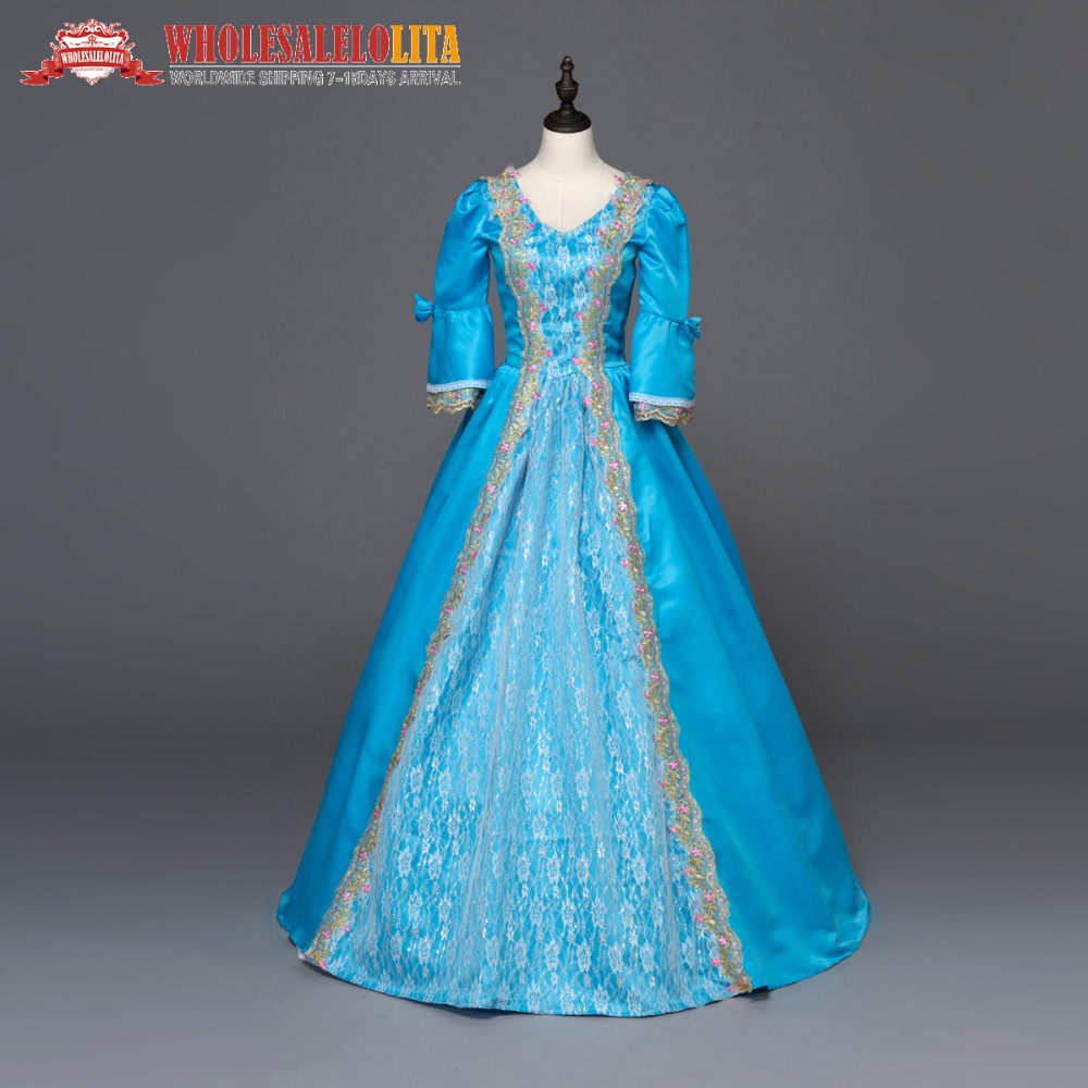 Marie Antoinette Renaissance Princess Dress Ball Gown Southern Belle ...