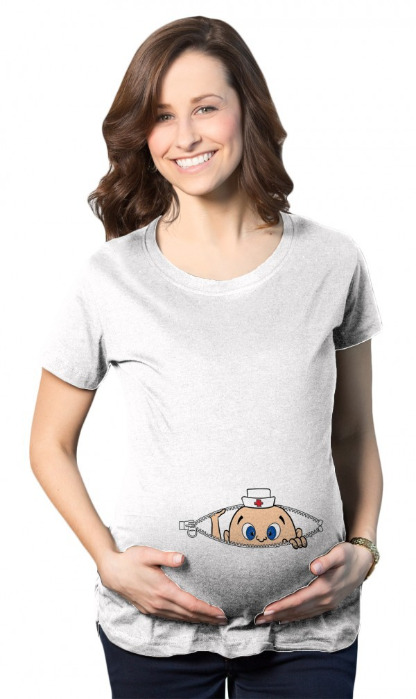 23f845a026fd6 Pregnant Women Funny White Shirt Maternity Tee Tops Cotton summer maternity  shirts funny pregnant shirts cute pregnancy shirt-in Tees from Mother &  Kids on ...