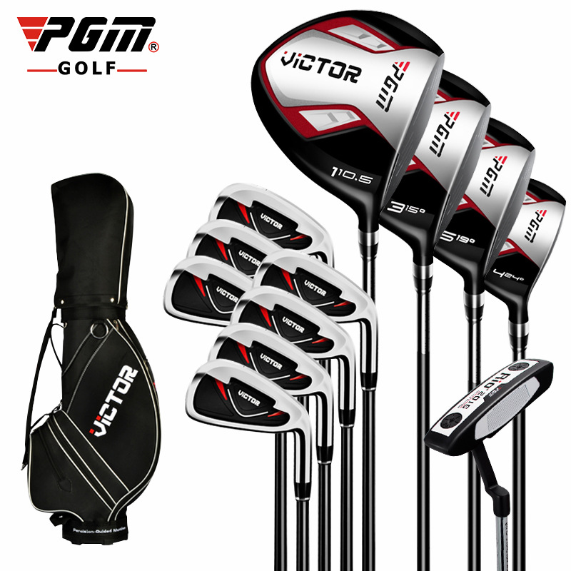 Golf PGM victor Club sets men's golf club 12 clubs+golf bag set for beginner Golf club freeshipping mini golf club set golf ball sport abs golf club for children golf table with flag kids sport game toy nice best gift children