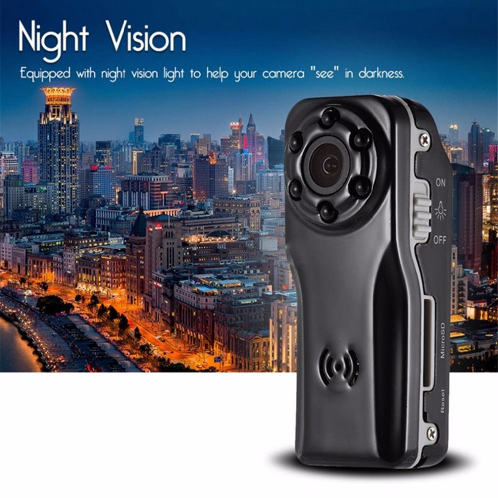 2017 NEW Mini 1080P Night Vision Camera S80 Professional HD 120 Degree Wide Angle Digital Camera DV Motion Detection Black