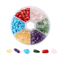 6 Color Stone Beads Chip Mixed Stone 7 12x5 8x3 5mm Hole 0 3mm About 800pcs