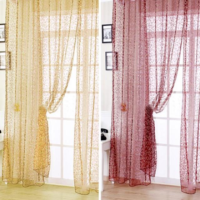 Neue Ankunft Europäischen Jacquard Design Sheer Fenstersteuerung Vorhänge  Raumteiler Neue Stil Für Wohnzimmer Schlafzimmer Dekoration