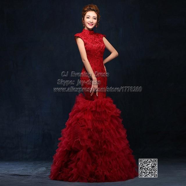 red fishtail long oriental dusty rose evening dresses 2015 burgundy gowns  uzun abiye elbise engagement dress 4991b2046195