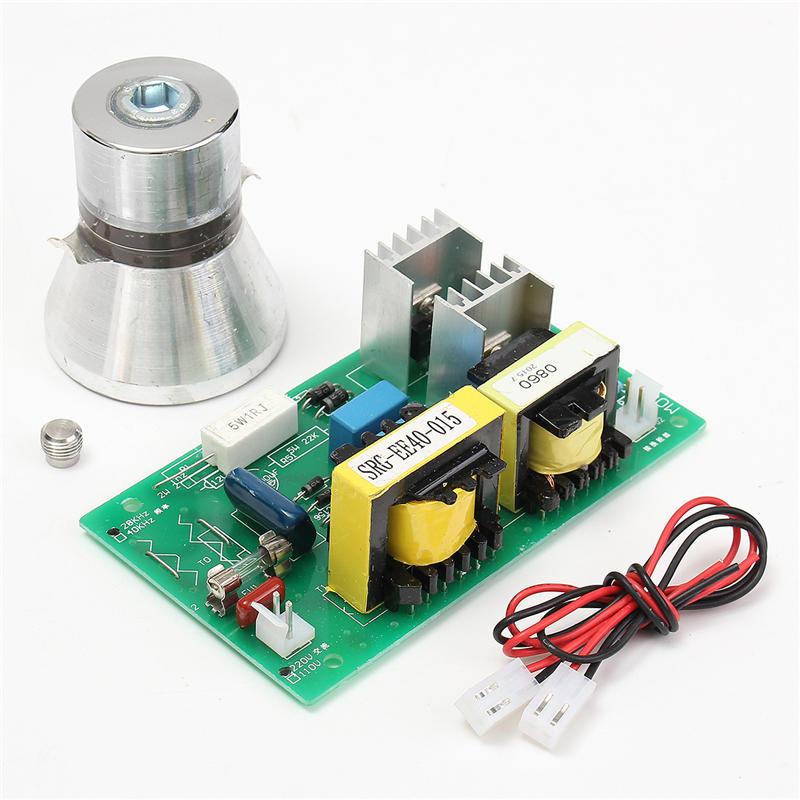 Nettoyeur ultrasonique de transducteur de nettoyage de 100 W 28 KHz haute performance + panneau de conducteur de puissance 220VAC pièces de décapant ultrasonique - 2
