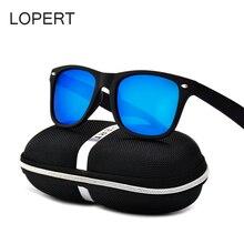 LOPERT Fashion Polarized Sunglasses Men Brand Designer Glasses Women Coating Points Black Frame Male Driving Sun Glasses UV400