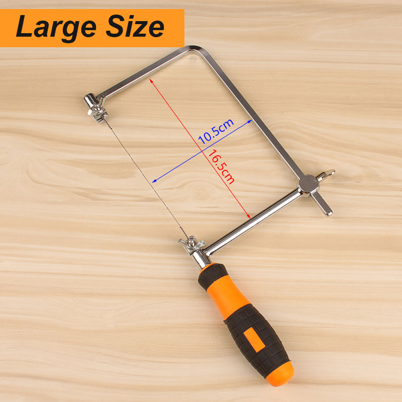 Woodworking adjustable cut piercing saw with rubber handle carpentry 3 sku greentooth Gallery