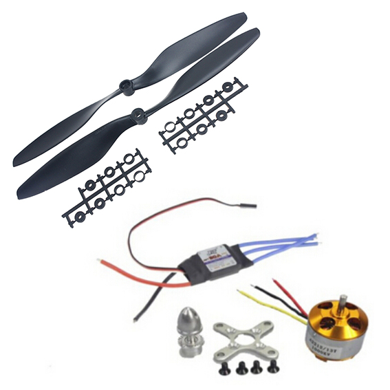 1 unidades A2212 1000KV 13 t Outrunner y JMT 30A ESC & 1045 Prop Hélice para F450 F500 F550 drone