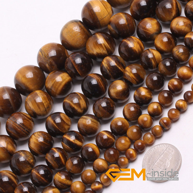 Round Tiger Eye,Natural Stone Beads,Selectable Size 2mm To 18mm,Fashion DIY Beads,For Man Bracelet,Strand 15