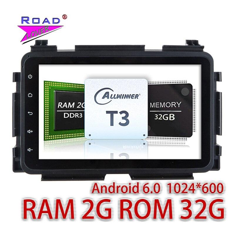 Wanusual 2 г + 32 ГБ Android 6.0 Автомобильные ПК головное устройство плеер для Honda XRV 2015 стерео GPS навигации двойной DIN no dvd Авто Радио BT 3 г