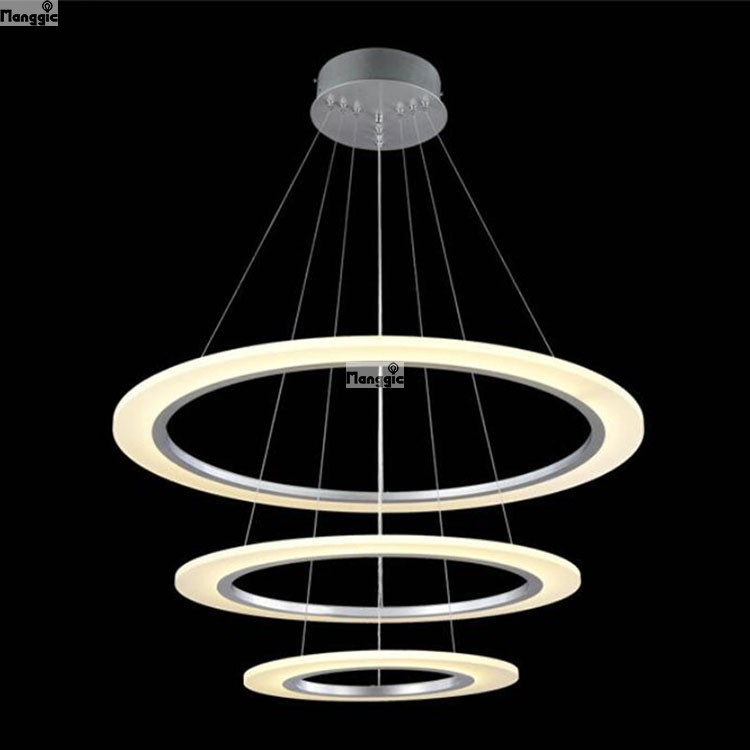 Diy Acrylic Led Light Fixture 3 Rings Chandelier Re Diameter 800mm 600mm 400mm High 1500 Mm In Chandeliers From Lights Lighting On