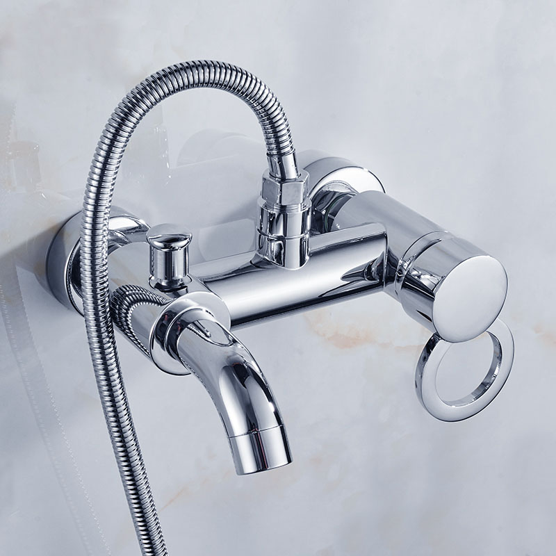 Bathroom Shower Faucet Bath Faucet Mixer Tap With Hand Shower Head ...