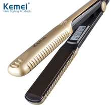 Promo offer Kemei327 New hair straighteners Professional Hairstyling Portable Ceramic Hair Straightener Irons Styling Tools Free Shipping