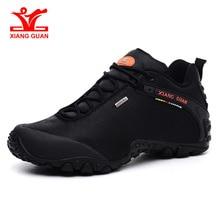 XIANG GUAN/уличная походная обувь; европейские размеры 39-48; Мужские дышащие Нескользящие ветрозащитные черные кроссовки для путешествий; трендовые спортивные кроссовки