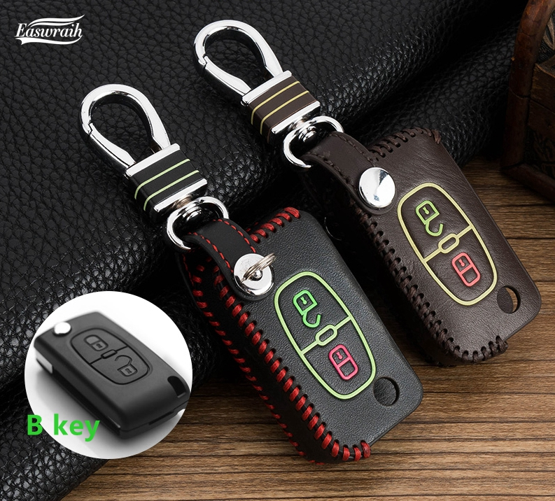 Cadeau de voiture lumineux couverture de portefeuille clé chaîne pour Peugeot 308 408 2008 4008 508 301 206 207 107 5008 3008 de voiture accessoires