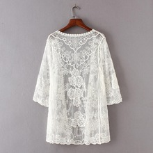 Floral Lace Embroidered Blouse