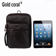 100% guarantee genuine leather shoulder handbag men's handbag panel computer bag tablet pad ipad bag free shipping