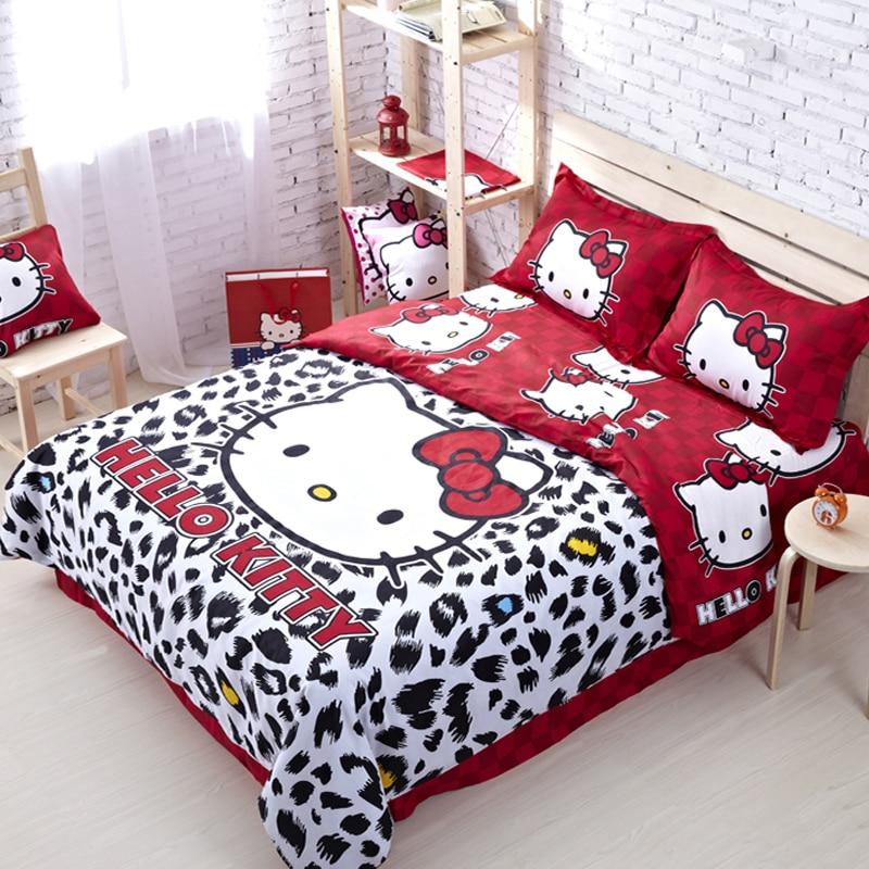 Hello Kitty Queen Sheets Set. 100 Cotton Hello Kitty Queen Size Bedding  Comforter Set ...