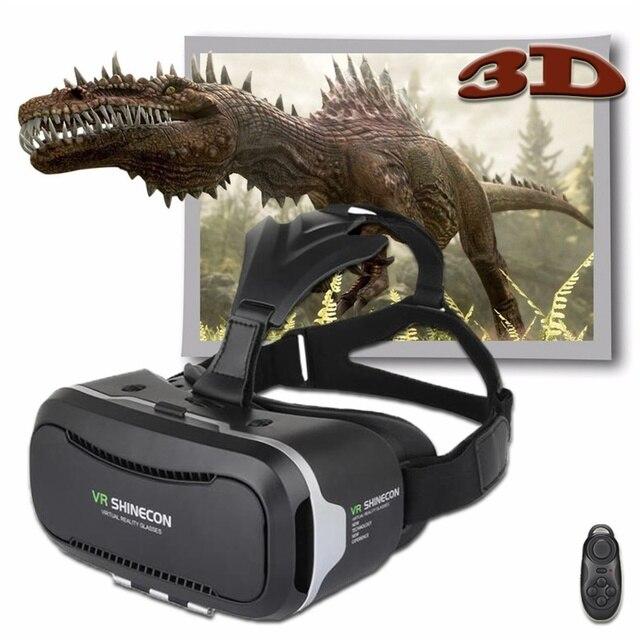 2017 Google Cardboard VR Shinecon 2.0 BOX 3.0 Version Virtual Reality 3D Glasses + Smart Bluetooth 4.0 Remote Control Gamepad