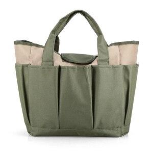 Image 3 - Bahçe alet çantası açık araçları Oxford kumaş bahçe kare kutu tipi çanta için bahçe aracı kiti açık araçları