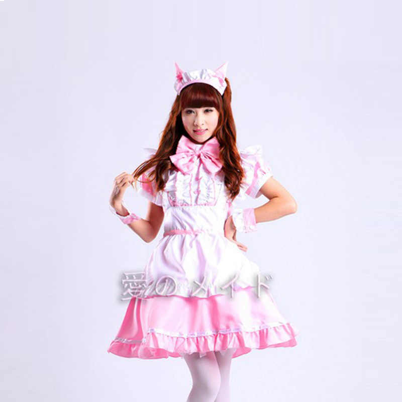 027448ed32c Hot Sale Alice in Wonderland Costume Cute Dress Maid Cosplay Fantasia  Carnival Halloween Costumes for Women Maid Uniform Costume