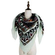 square winter shawls soft womens fashion printed acrylic cashmere scarf shawls large size cape wraps stole blanket scarfs