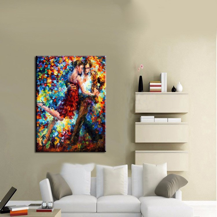 Online get cheap tango dancer painting for Blank canvas designs wall art